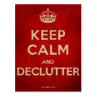 Keep Calm and Declutter postcard