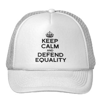 KEEP CALM AND DEFEND EQUALITY TRUCKER HAT