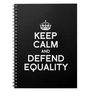 KEEP CALM AND DEFEND EQUALITY NOTE BOOKS