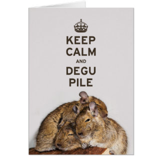 Keep Calm and Degu Pile Card