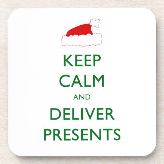 Keep Calm and Deliver Presents Drink Coaster