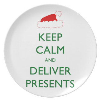 Keep Calm and Deliver Presents Plate