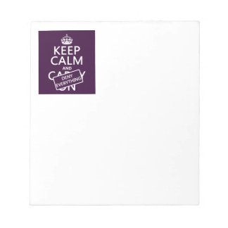 Keep Calm and Deny Everything - all colors Notepad