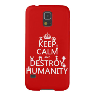 Keep Calm and Destroy Humanity (robots) Cases For Galaxy S5