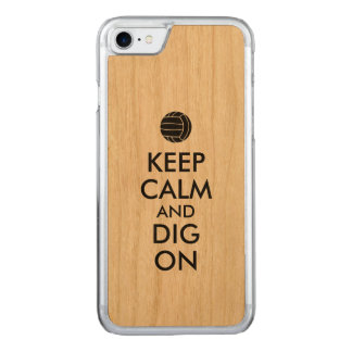 Keep Calm and Dig On Volleyball Sports Lovers Carved iPhone 8/7 Case