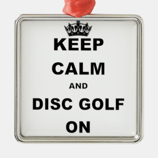 KEEP CALM AND DISC GOLF ON' CHRISTMAS ORNAMENT