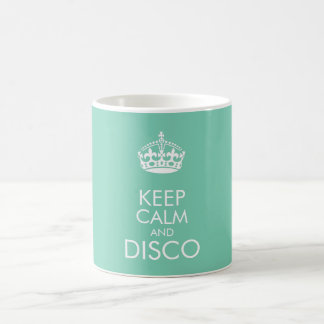 Keep calm and disco - change background colour coffee mug