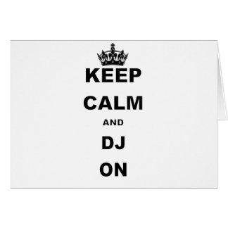 KEEP CALM AND DJ ON CARD