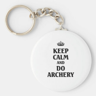 Keep calm and do Archery Key Ring