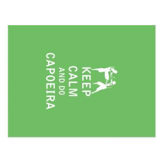 Keep Calm and Do Capoeira Postcard