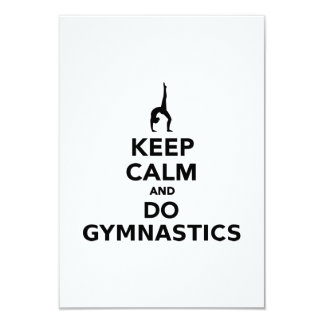 Keep calm and do Gymnastics 9 Cm X 13 Cm Invitation Card