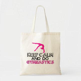 Keep Calm and Do Gymnastics Budget Tote Bag