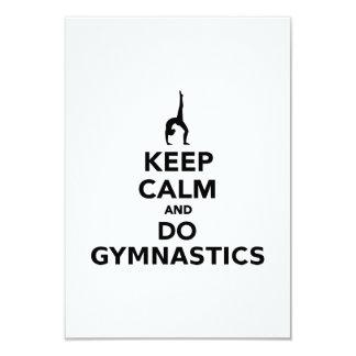 Keep calm and do Gymnastics 3.5x5 Paper Invitation Card
