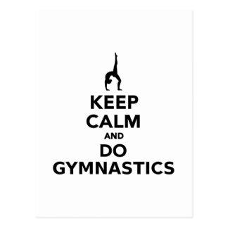 Keep calm and do Gymnastics Postcard