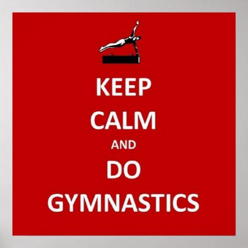 Keep calm and do gymnastics posters