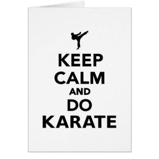 Keep calm and do Karate Greeting Cards