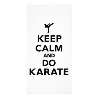 Keep calm and do Karate Customized Photo Card