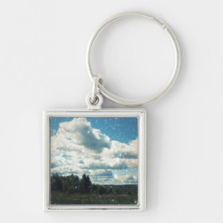 Keep Calm and do not Compare Yourself with Others Silver-Colored Square Key Ring