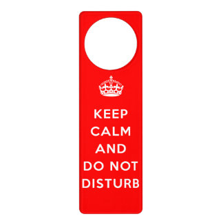 Keep Calm And Do Not Disturb Door Knob Hangers