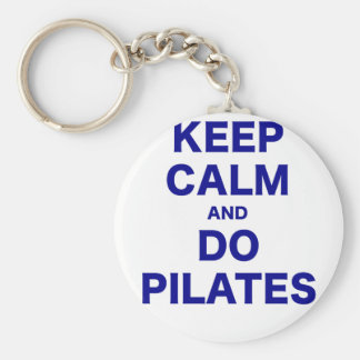Keep Calm and Do Pilates Basic Round Button Key Ring