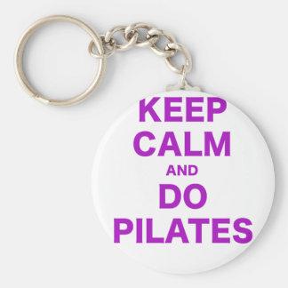 Keep Calm and Do Pilates Key Ring