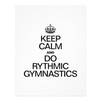 KEEP CALM AND DO RYTHMIC GYMNASTICS ai Flyer