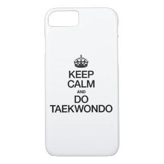 KEEP CALM AND DO TAEKWONDO iPhone 8/7 CASE
