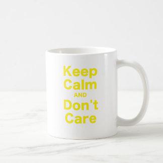 Keep Calm and Dont Care Basic White Mug