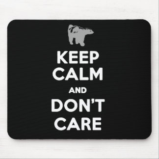 keep calm and don't care honey badger mouse pad