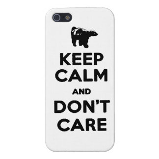 keep calm and dont care honey badger phone case case for iPhone 5/5S