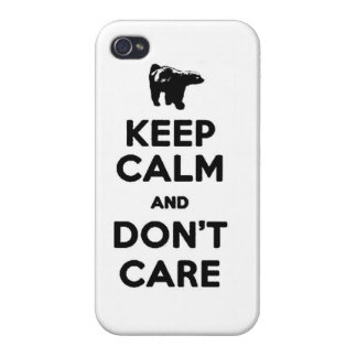 keep calm and dont care honey badger phone case iPhone 4/4S case
