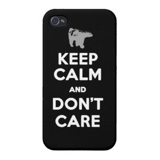 keep calm and dont care honey badger phone case iPhone 4/4S cover