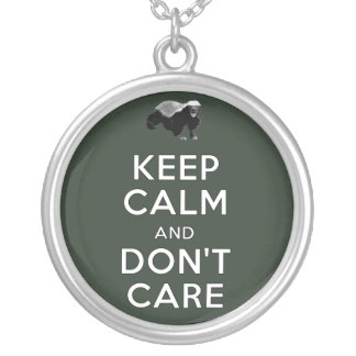 Keep Calm and Don't Care Custom Necklace
