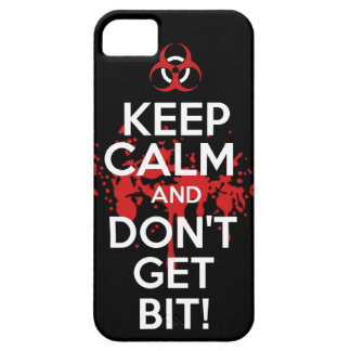 Keep Calm and don't get bit kill zombie zombies wa Case For The iPhone 5