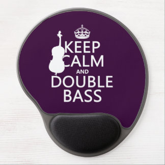 Keep Calm and Double Bass (any background color) Gel Mouse Pad