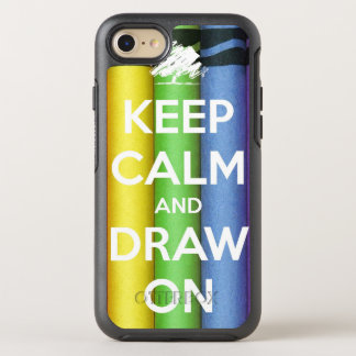 Keep Calm and Draw On Colours OtterBox Symmetry iPhone 8/7 Case