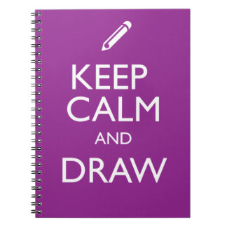 KEEP CALM AND DRAW SPIRAL NOTE BOOKS