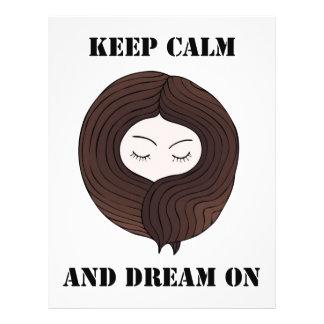 Keep Calm And Dream On 21.5 Cm X 28 Cm Flyer