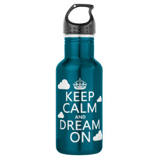 Keep Calm and Dream On (clouds) - all colors 532 Ml Water Bottle
