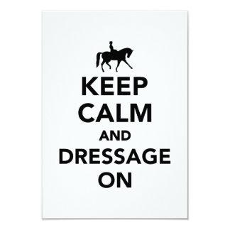 Keep calm and dressage on 9 cm x 13 cm invitation card