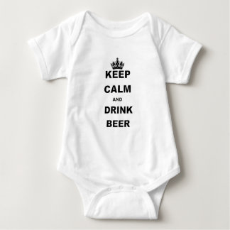 KEEP CALM AND DRINK BEER BABY BODYSUIT
