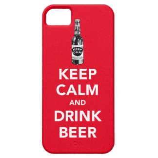 Keep calm and drink beer iPhone 5 cases