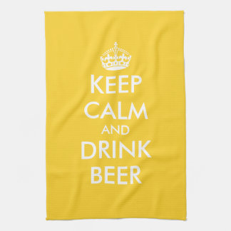 Keep calm and drink beer kitchen towels