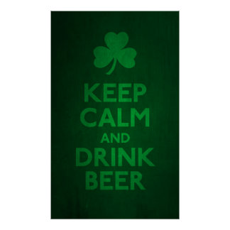 Keep Calm and Drink Beer Print
