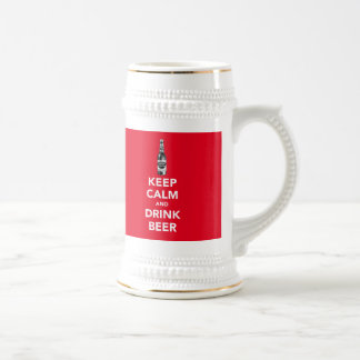 Keep calm and drink beer x3 image pint beer stein