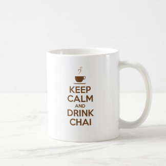 KEEP CALM AND DRINK CHAI COFFEE MUG