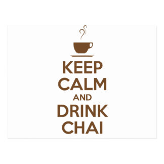 KEEP CALM AND DRINK CHAI POSTCARDS