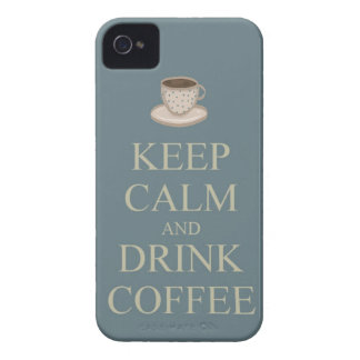Keep calm and drink coffee iPhone 4 Case-Mate cases