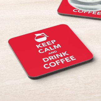 Keep calm and drink coffee coasters (customizable)
