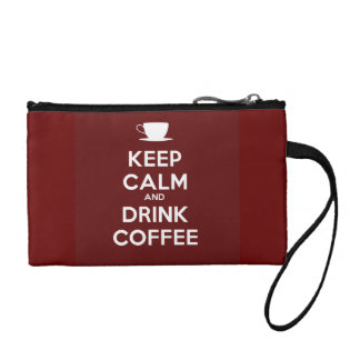Keep Calm and Drink Coffee Coin Wallet